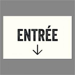 VINYLE 'ENTRÉE' + FLECHE...