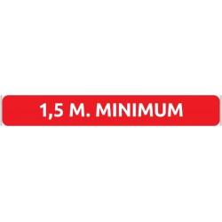 FLOORSTICKER 1,5 M MINIMUM