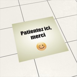 FLOORSTICKER FILE D'ATTENTE...