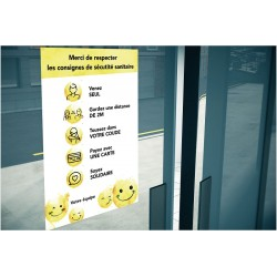 AFFICHE SANITAIRE SMILEYS